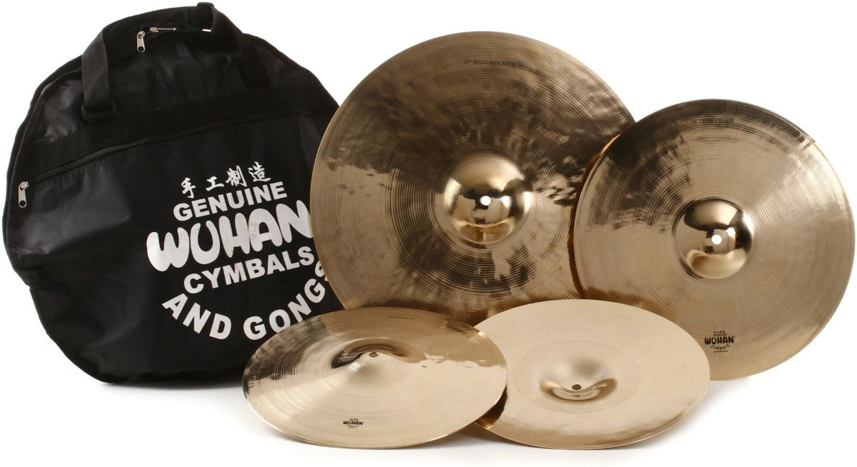 Wuhan Traditional 3-piece Cymbal Set with Bag
