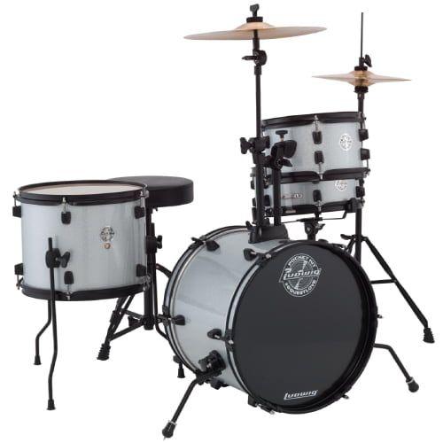 Ludwig Questlove Pocket Kit Complete Drum Set - Silver Sparkle