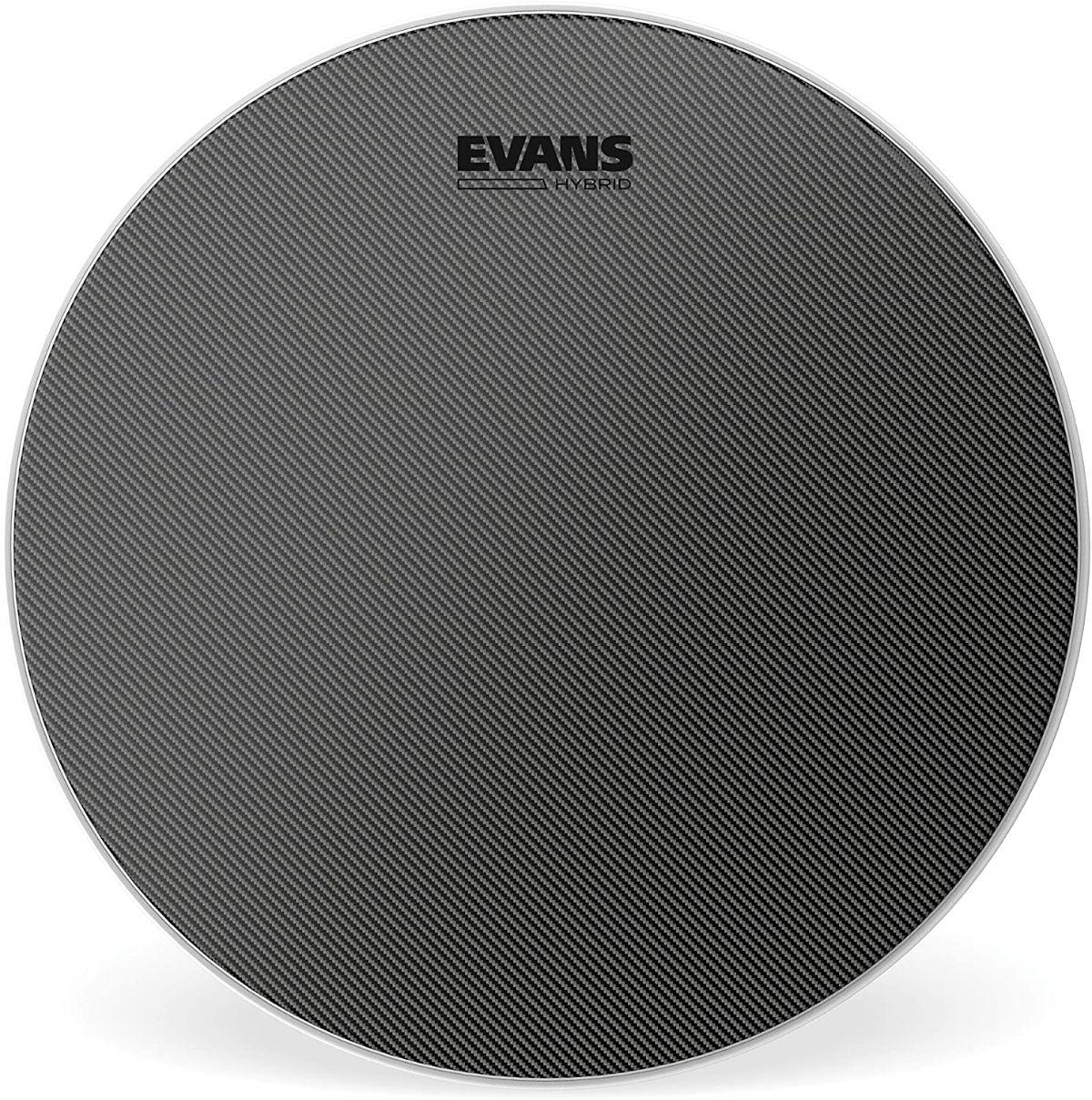 evans hybrid coated snare drum head