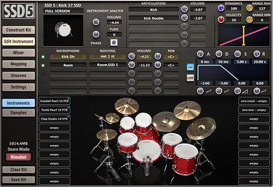 Steven Slate Drums SSD5 Virtual Drum Instrument Plug-in