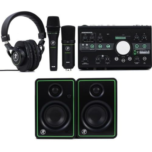 Mackie Studio Bundle with Big Knob Studio, Monitors, and Microphones