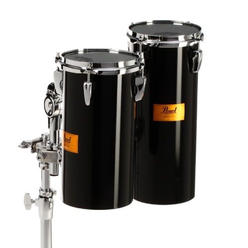 Pearl Rocket Toms With Double-Braced Tom Stand