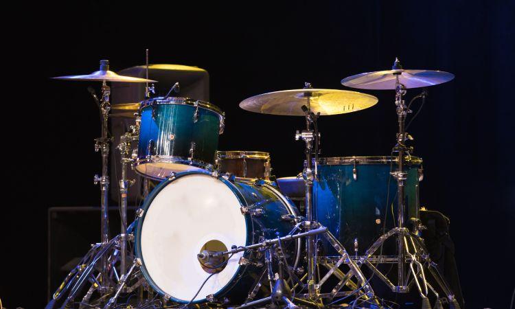 Left handed drum set up