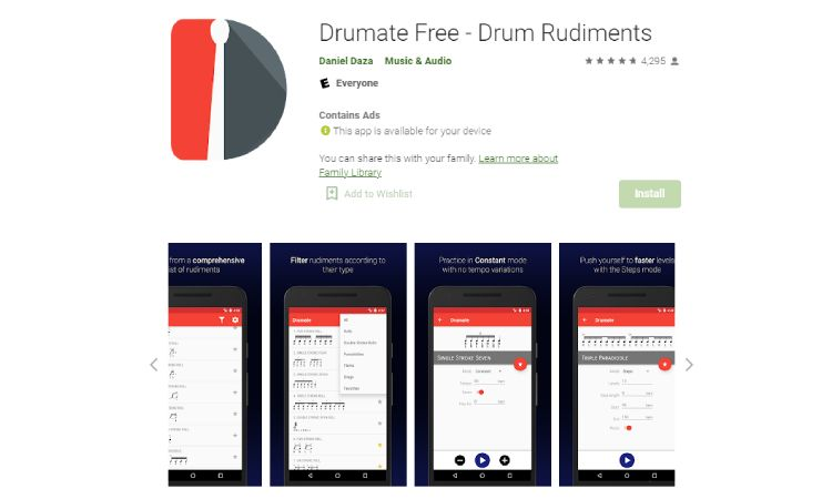 Drumate - 10 Best Drumming Apps - Free and Paid