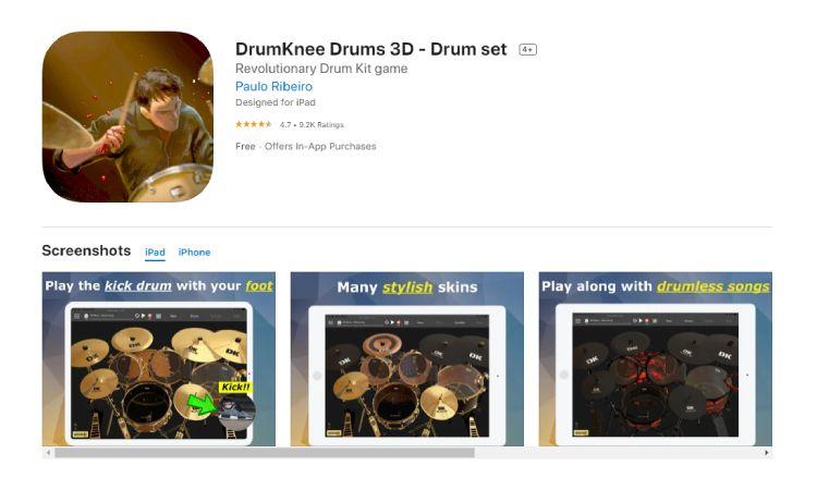 Drumknee - 10 Best Drumming Apps - Free and Paid