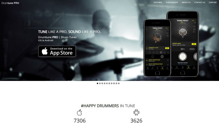Drumtune PRO- 10 Best Drumming Apps - Free and Paid