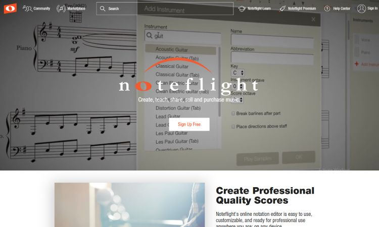 Noteflight - 10 Best Drumming Apps - Free and Paid