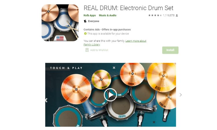 REAL Drum - 10 Best Drumming Apps - Free and Paid