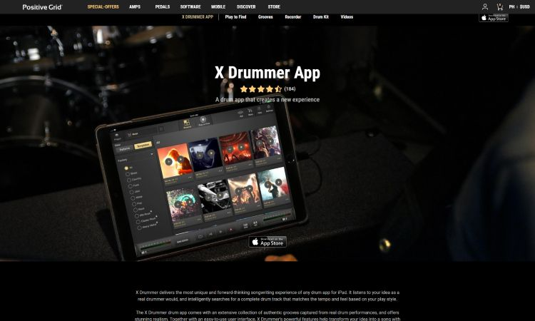 XDrummer - 10 Best Drumming Apps - Free and Paid